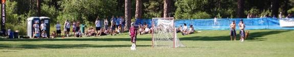 Woozles goalie Blake Gaudet lacrosse Tahoe