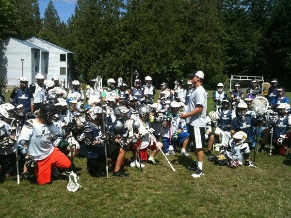 Coach Malcolm Chase addressing the campers.