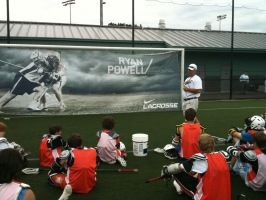 Coach V addressing the Seattle campers