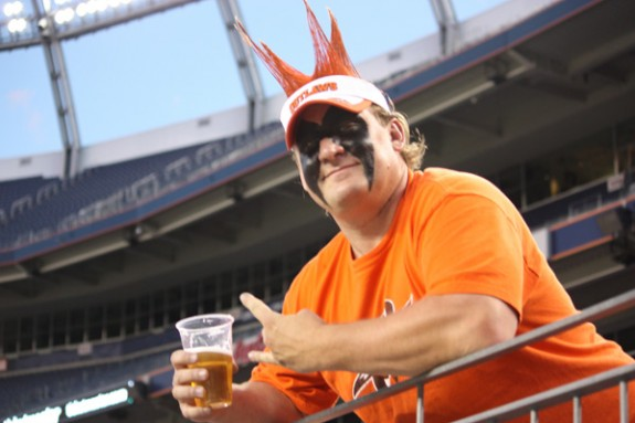 Spike, a Denver Outlaws super fan!
