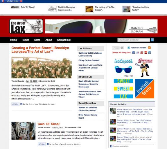 THe art of lax blog