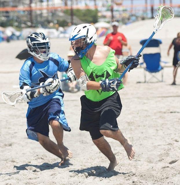 LaxAllSharks lacrosse shorts beach lax