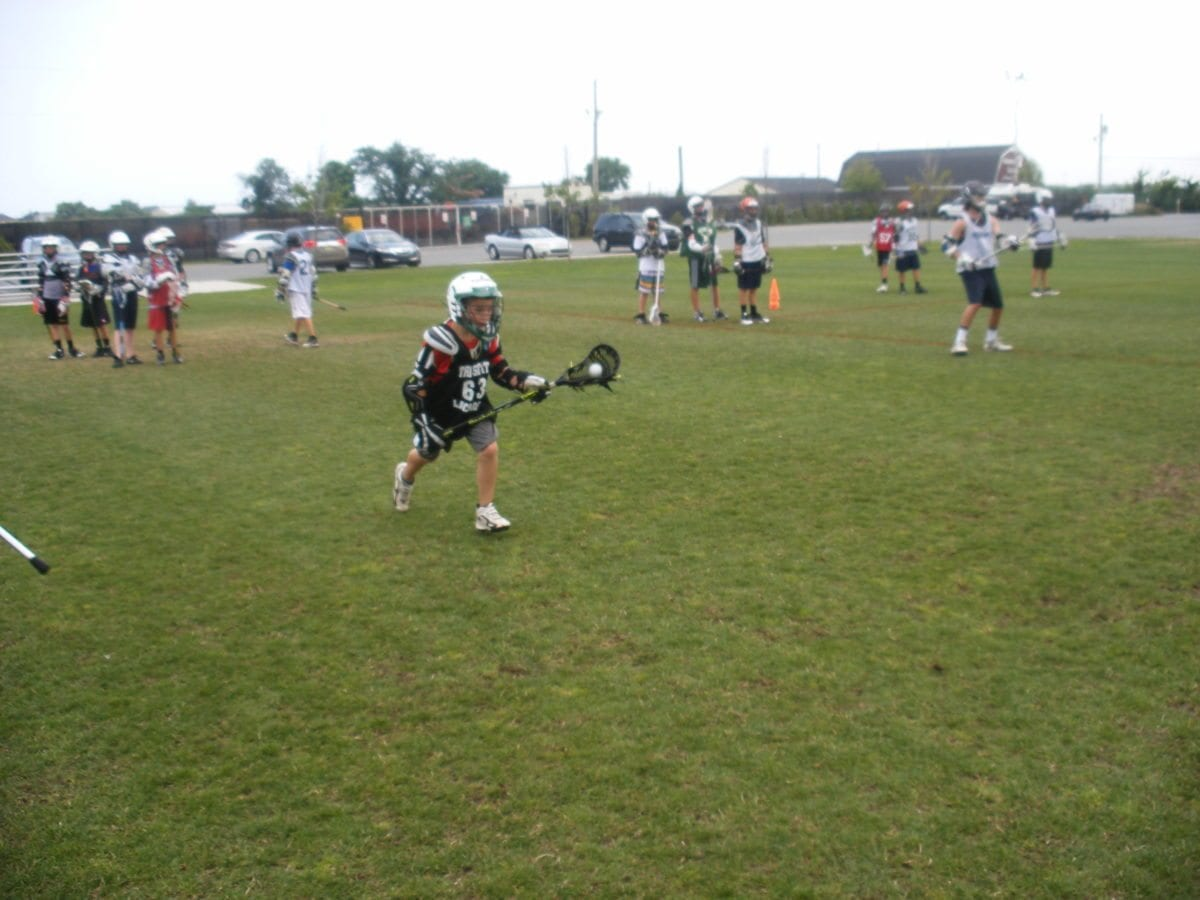Lacrosse Camp line drills