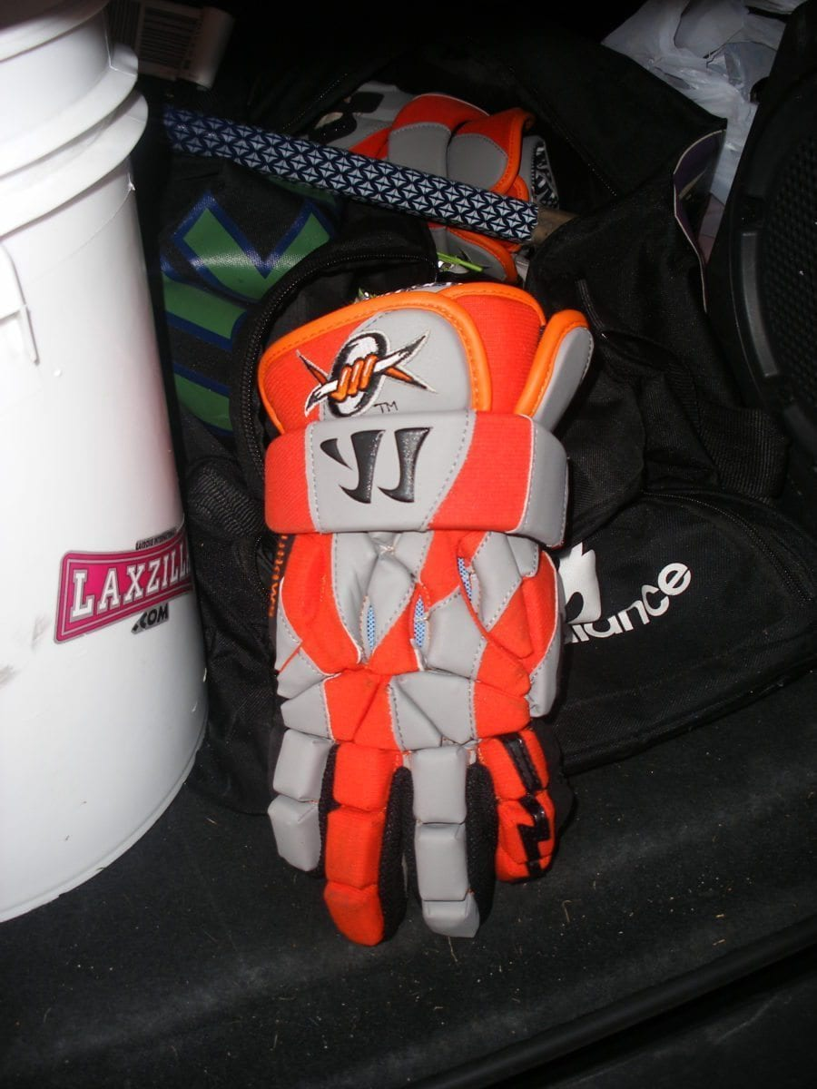 Outlaws Lacrosse gloves warrior Ryan Cranston