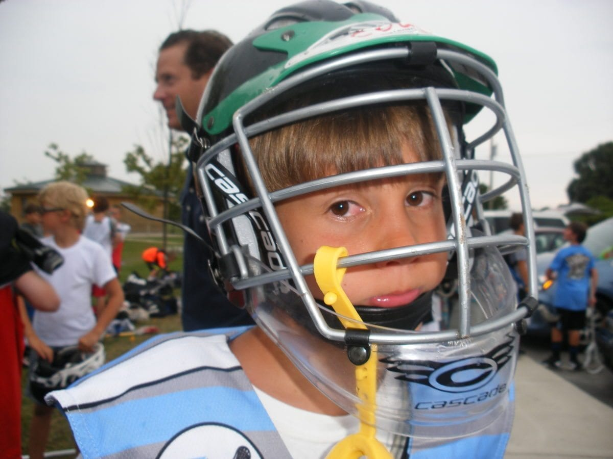 laxevo camps cascade lacrosse clear chin piece.