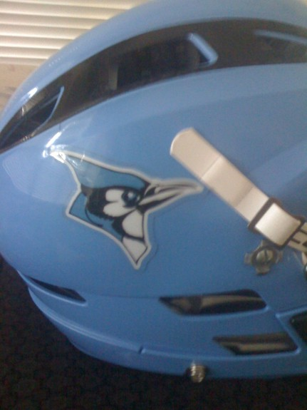 Classic hopkins lacrosse helmet