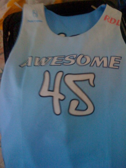 Team Awesome lacrosse uniform
