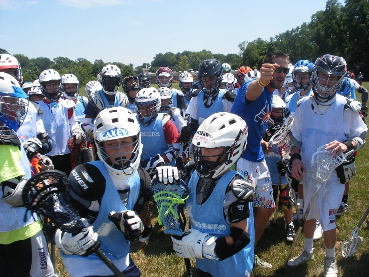 Lax Evo Valley Forge lacrosse camp campers ready