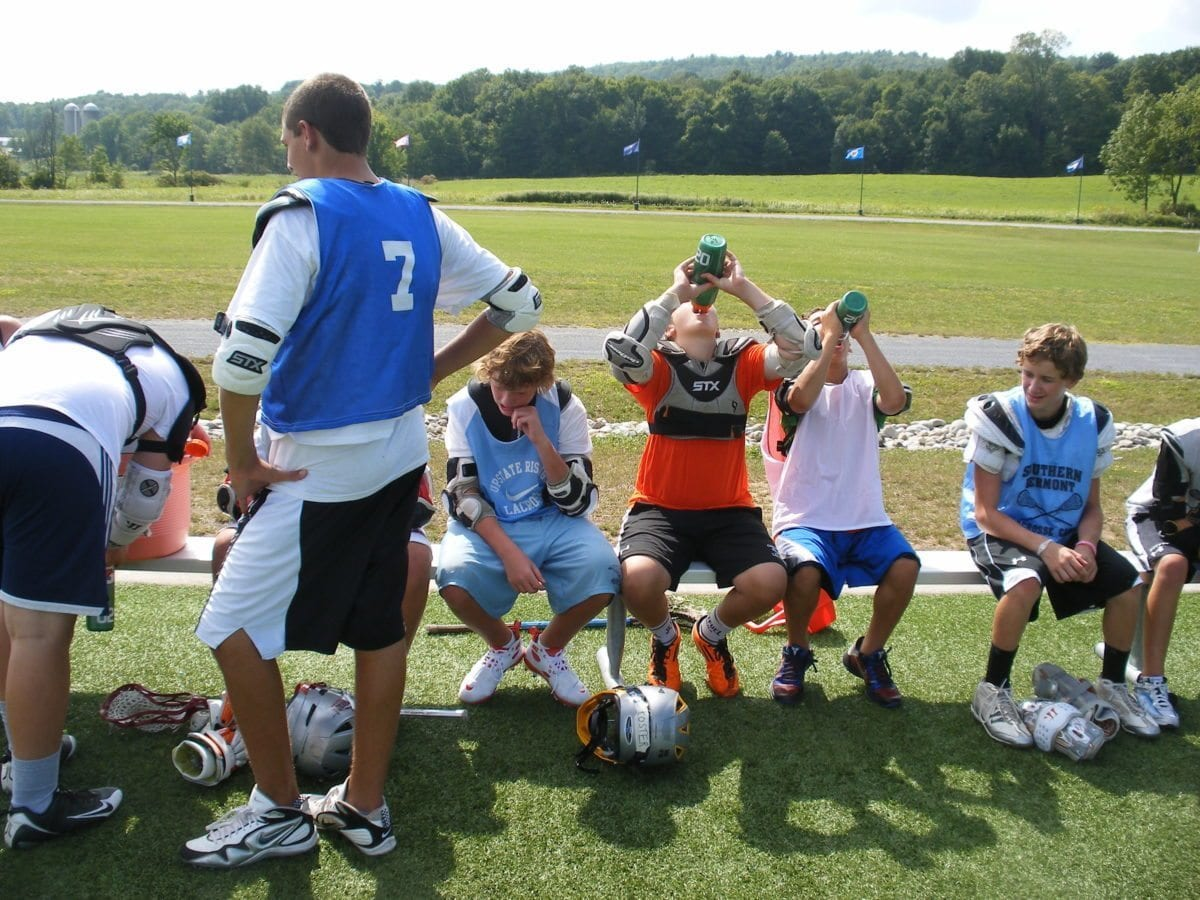 Hydrate water drink at lax lacrosse camp