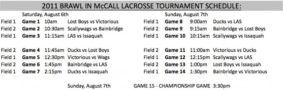Brawl in McCall schedule 2011 lacrosse lax