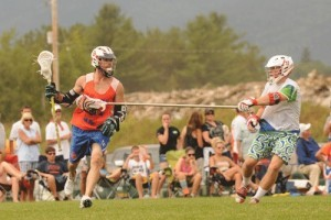 Mike Powell Burning Orange Lake Placid Lax Lacrosse