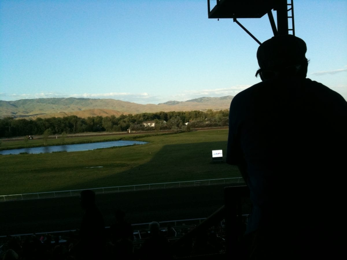 RP takes in the view between races.