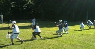 Zarchin working the goalies.