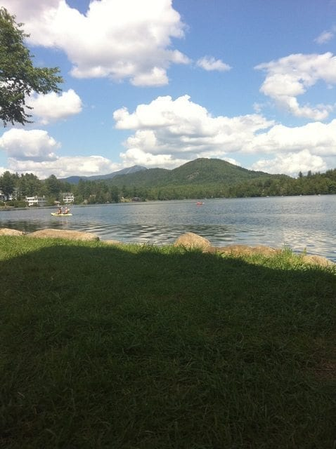 Beautiful Mirror Lake (fun fact: The downtown of Lake Placid is not on Lake Placid)