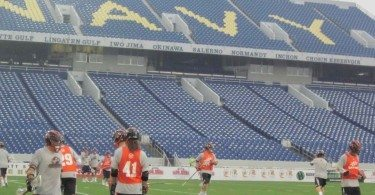 MLL Game Chesepeake Bayhawks Denver Outlaws Navy Stadium
