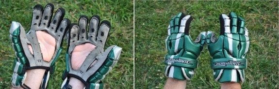 cut out lacrosse palms gloves lax