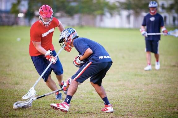 Thomas Palestrini Thailand Lacrosse Singapore lacrosse practice helmet