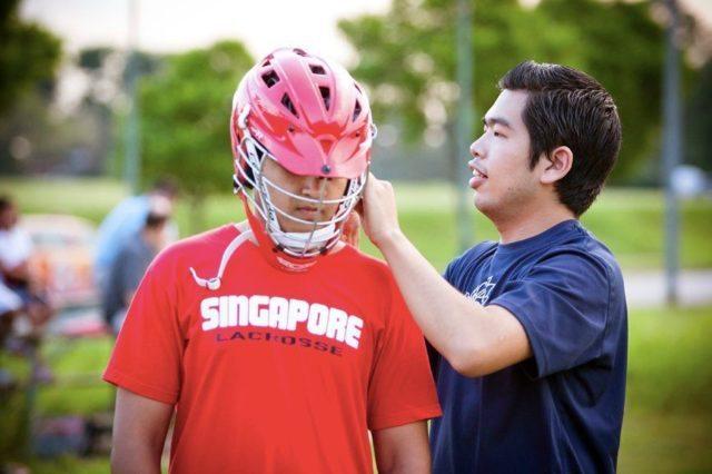 Payu Thailand Lacrosse Singapore lacrosse practice helmet - International Lacrosse