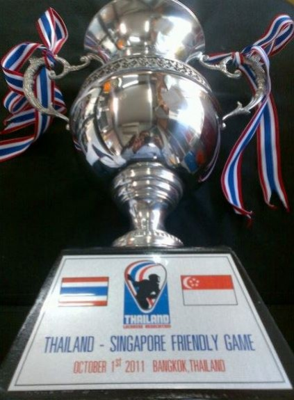 Thailand Hong Kong Lacrosse game 2010 lax asia TROPHY