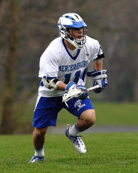 -The Mercersburg Academy Lacrosse glove Brine King custom