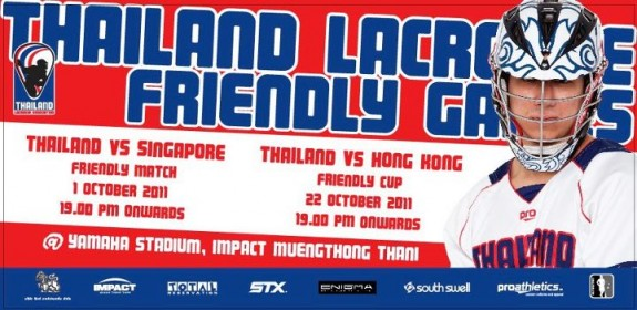 Thailand Singapore Hong Kong lacrosse games