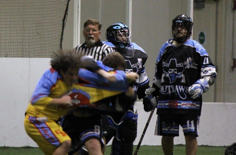 MILA box lacrosse fight