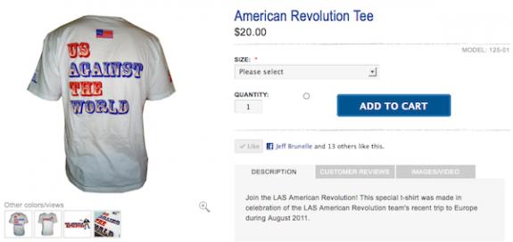 American Revolution lacrosse t-shirt