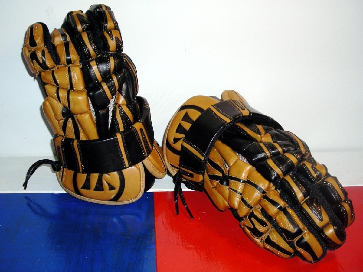 Warrior Lacrosse Mac Daddy III lax glove Black and Tan