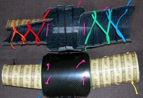 Unequal Technologies homemade arm pad kevlar lacrosse lax
