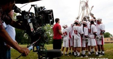 crooked-arrows- movie filming lacrosse lax