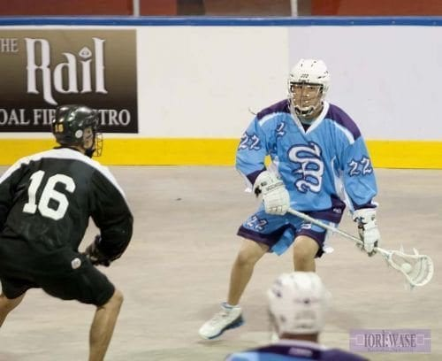 Jerome Thompson box lacrosse
