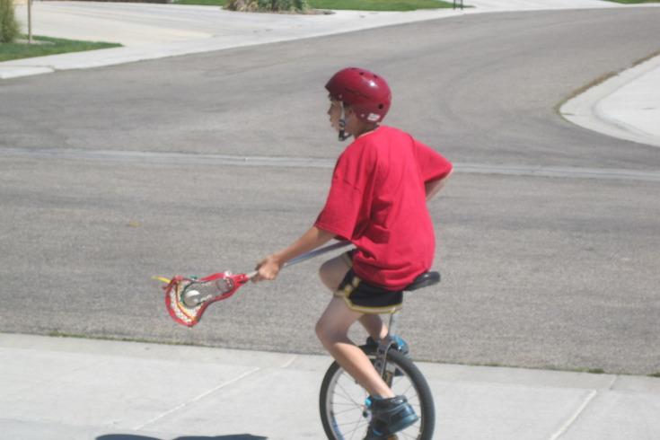 Ian Zaleski Idaho Unicycle Lacrosse