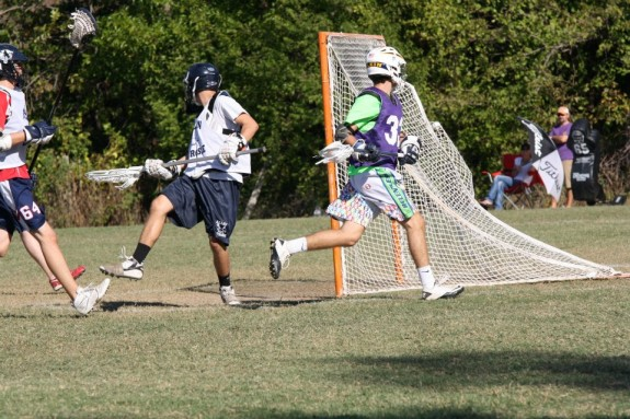 Hanson Finley Lacrosse behind the back goal