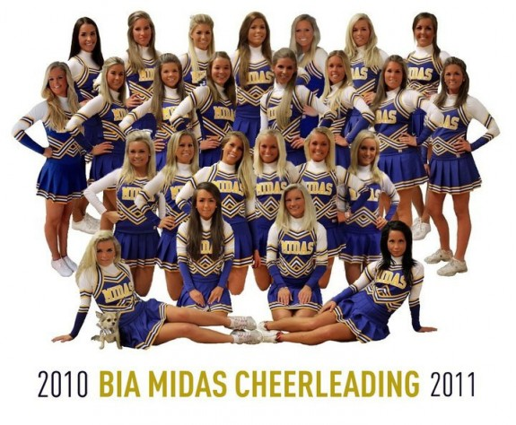 MIDAS cheerleaders Oslo Norway BI Lions