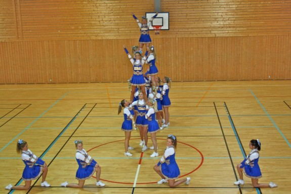 MIDAS cheerleaders Oslo Norway