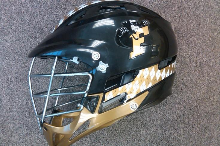 Ferrum College Cascade Lacrosse helmet NCAA D3