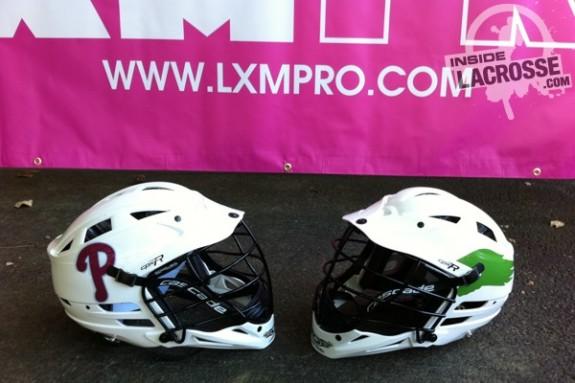 LXM helmet decals philadelphia lacrosse pro tour