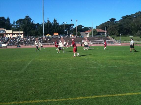 Denver Harvard fall lacrosse field view