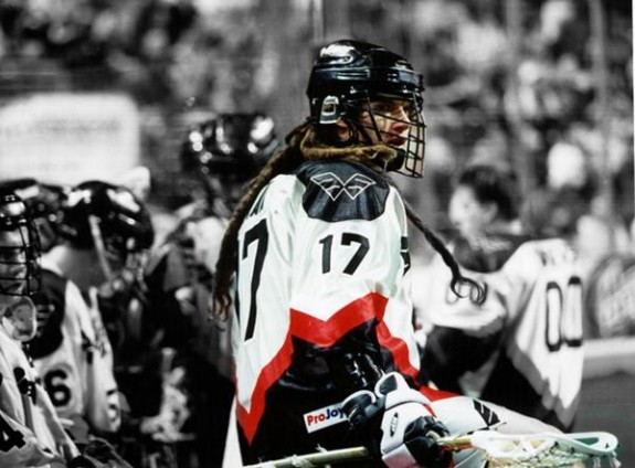 Tom Ryan lacrosse Philly Wings NLL dreads