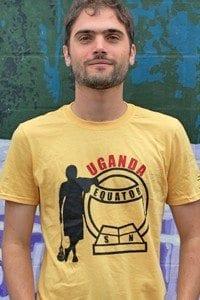 uganda_yellow lacrosse tshirt encore brand