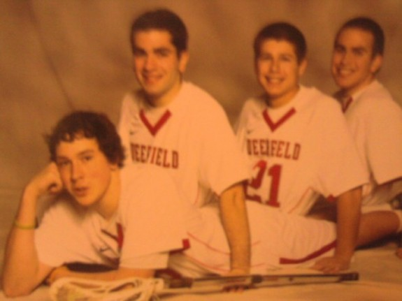 Friends forever cheerleader pose lacrosse