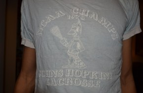 Johns Hopkins vintage lacrosse shirt