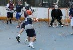 NYC box lacrosse outdoor roller hockey rink