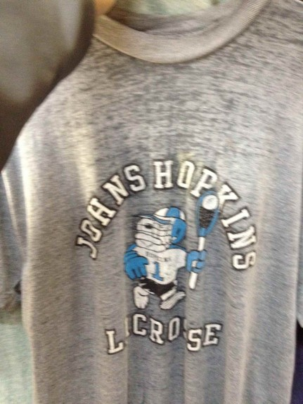 Johns Hopkins retro lax T-shirt