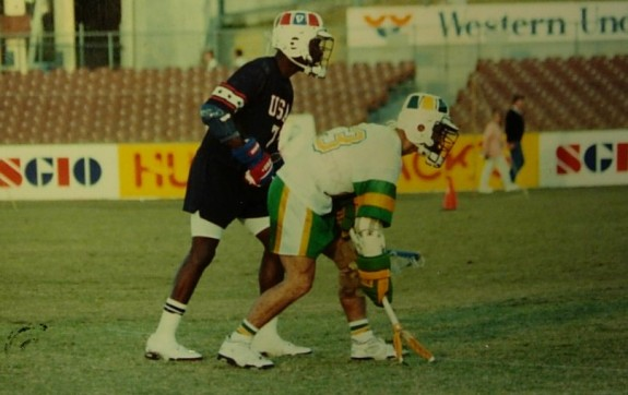 Perth+90+faceoff USA australia lacrosse lax Fred Opie