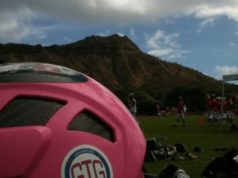 Hawaii grow the game mountain lacrosse pink helmet malcolm chase