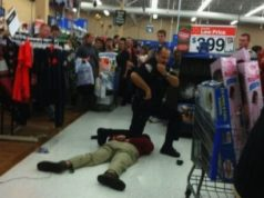 Black Friday shopping arrest