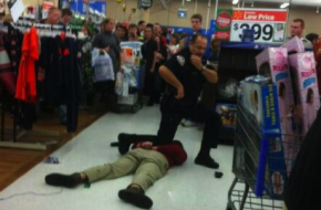Black Friday shopping arrest