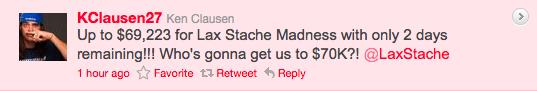 Ken Clausen mustache tweet