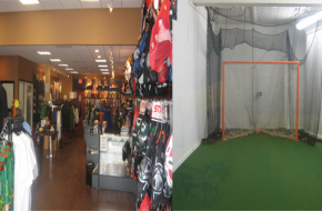A Shooting Cage - A Must for a Lacrosse Shop
